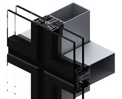 Panel Curtain System Panel Curtain Wall Aluminum And Glass Ef 50 Saray