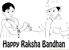 rakhi coloring pages rakhi festival drawing sketch coloring page