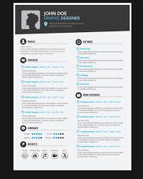 Design Resumes Examples by Graphic Designer Resume Template Vector Free Download