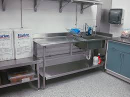 stainless steel countertop with sink welding fabricating clean room walls and ceiling projects