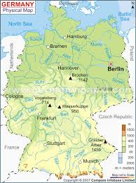 geographical map of germany geography germany climate change