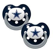 dallas cowboys baby pacifiers pack of 2 baby clothes