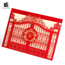 online buy wholesale red pocket wedding invitations from china red
