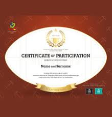 certificate of participation template royalty free vector