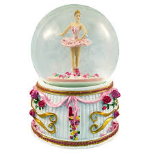 balmwg 004 turning ballerina musical snow globe plays serenade