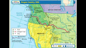 map of oregon country 1846 oregon country