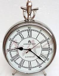 Nautical Desk Clock Vintage Chrome Table Clock London Bond Street Nautical Home Decor
