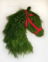 real pine cedar wreath winter decor for equine