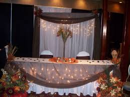 Fall Table Decorations For Wedding Receptions - fall head table ideas champagne hall pinterest head tables
