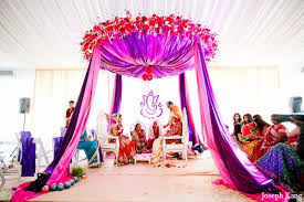mandap decorations indian wedding ceremony purple mandap groom in chicago