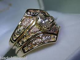 Black Hills Gold Wedding Rings by Vintage 14kydiamond Black Hills Gold Wedding Ring Stock 2013