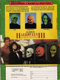 when halloween 3 came out you could buy replicas of the masks