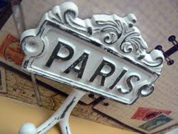 Cast Iron Home Decor Paris Cast Iron Wall Hook White French Shabby Chic Home Decor