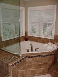Corner Bathtub Shower Combo Small Bathroom Articles With Corner Bathtub Shower Ideas Tag Mesmerizing Corner