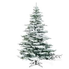 40 flocked noble 10ft artificial frosted tree