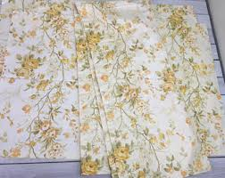 Retro Floral Curtains Floral Cafe Curtains Etsy