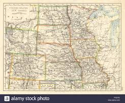 Minnesota Usa Map by Political Map Of Minnesota Stock Photos U0026 Political Map Of