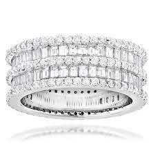 white eternity rings images Luxurman luxurman designer eternity ring 14k round baguette jpeg