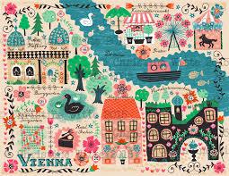 map of vienna map of vienna illustration design by christine witte