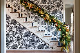 Banister Garland Ideas 100 Awesome Christmas Stairs Decoration Ideas Digsdigs