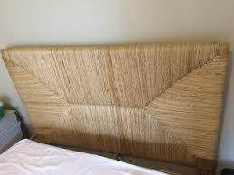 West Elm Headboard West Elm Bed Frame Seagrass Headboard Blond In Side