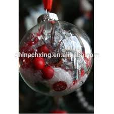 6cm open hollow glass balls for christmas ornament with high