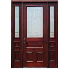 8 Foot Exterior Doors 70 X 96 Mahogany Front Doors Exterior Doors The Home Depot