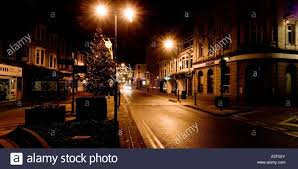 aberystwyth town centre at night christmas eve 2006 empty streets