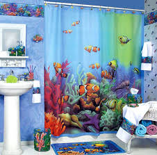 Walmart Kids Bathroom Shower Curtains For Kids With Nemo Theme Shower Curtains And Blue