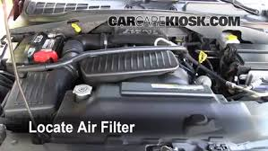 dodge durango fuel filter 2004 2009 dodge durango engine air filter check 2004 dodge