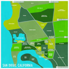 Map Of San Diego Ca Most Descriptive Map Of San Diego Neighborhoods I U0027m Going Here