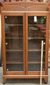 Curio Cabinets Shelves Oak Pine Curio Cabinet With A Bowed Front And 3glass Shelves