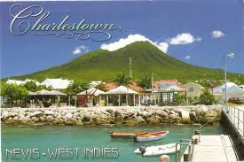 postcard a la carte st kitts and nevis charlestown of nevis island