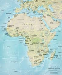 Southwest Asia Physical Map by Africa Q Files Encyclopedia