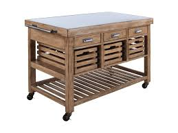 Kitchen Island Stainless Top Coaster Kitchen Carts Serving Trolley With Stainless Steel Top