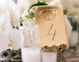 Laser Cut Table Numbers Laser Cut Etched Acrylic Table Number Wedding Decor Party