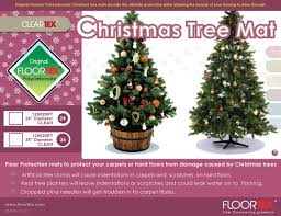 round polycarbonate christmas tree mats by floortex from chairmats co