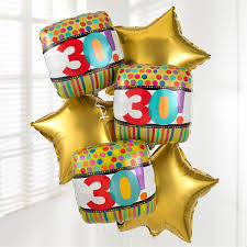 30th birthday balloon delivery 30th birthday balloon bouquet delivered helium filled balloon in a