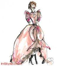 fashion designers sketch bella u0027s wedding dress instyle com