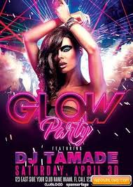 party flyer free glow party club v10 flyer template free download free graphic