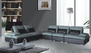 Custom Sectional Sofa Best Custom Sectional Sofa And Unique Leather Two Tone Grey And