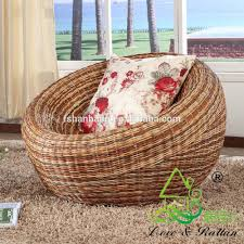bedroom deluxe design of rattan papasan chair with white cushion