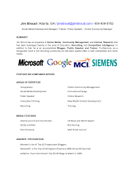Sample Resume Objectives For Paraprofessional by 22 Social Media Manager Resume Samples Vinodomia