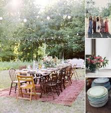 trending now boho backyard wedding flower decoration