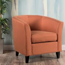 plaza fabric club chair orange