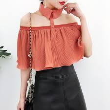 blouse ruffles fashion shirts slash ruffles chiffon hang the