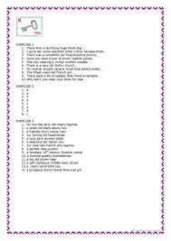 word order of adjectives worksheet free esl printable worksheets