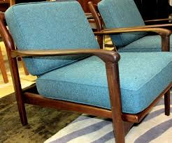 Peacock Blue Chair Wonderful Pair Vintage Danish Modern Chairs Restored With New