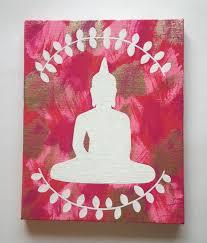 Fashionable Home Decor Hippie Bohemian Buddha Inspired Acrylic Canvas Painting For