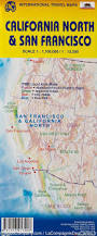 Map Of San Francisco California by Map Of San Francisco U0026 Northern California Itm Maps Company